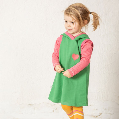 Image of Alba Trine Hood Dress - Juniper - Tilly & Jasper