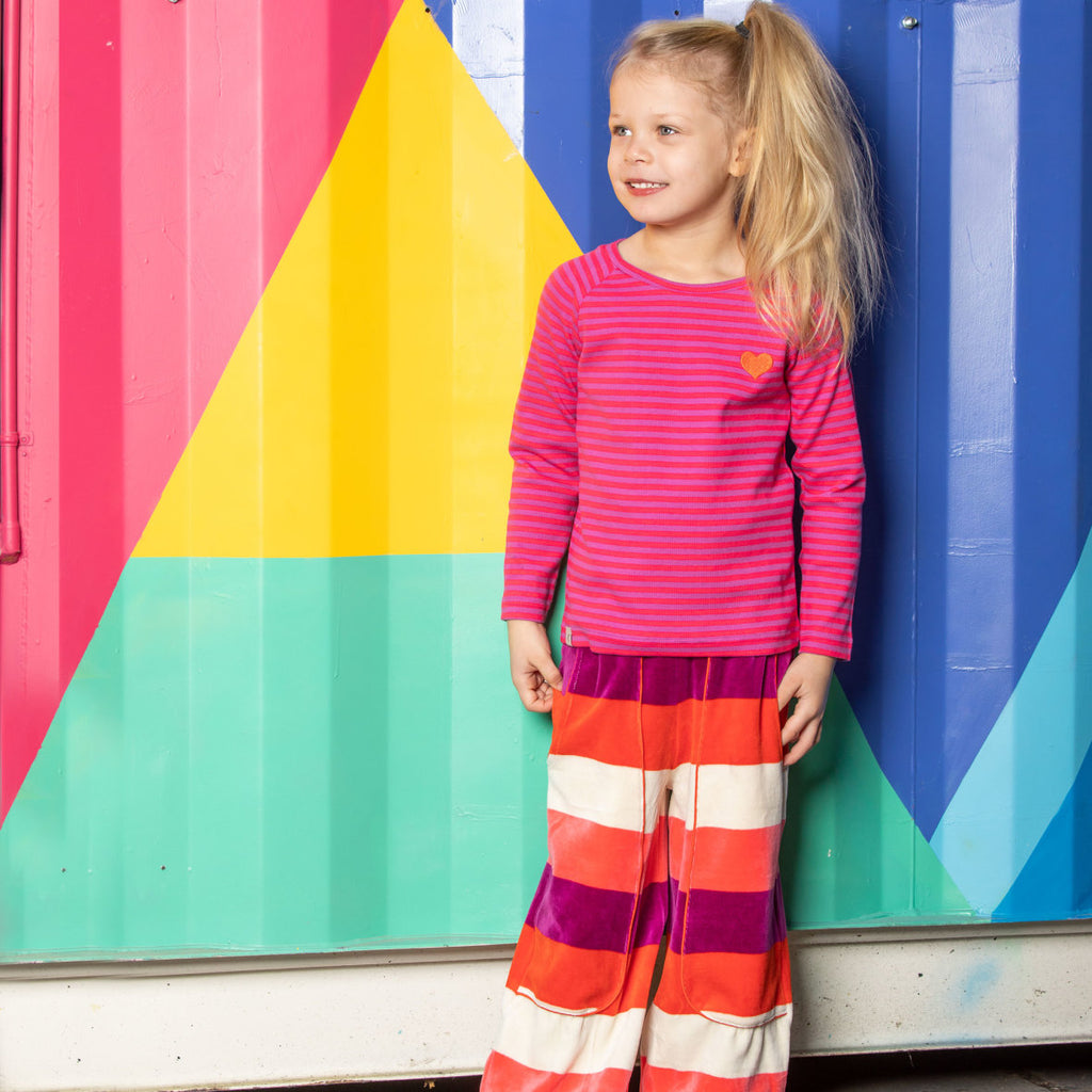 Alba All You Need Tee - Dahlia Magic Stripes