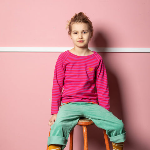Image of Alba All You Need Tee - Dahlia Magic Stripes