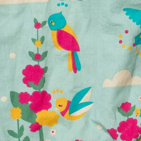 Image of LGR Paradise Birds Gathered Dress