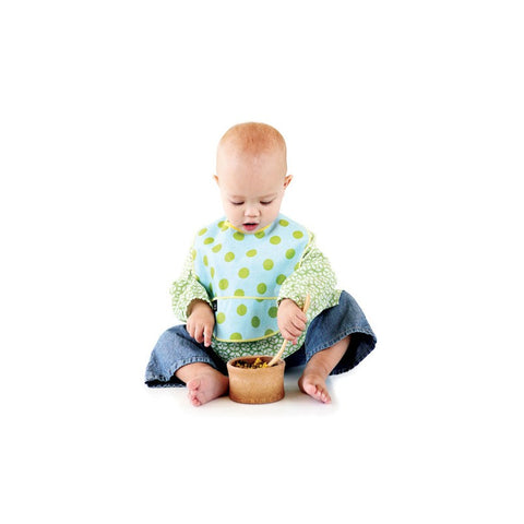Toddler eating from Bamboo Baby Feeding Bowl