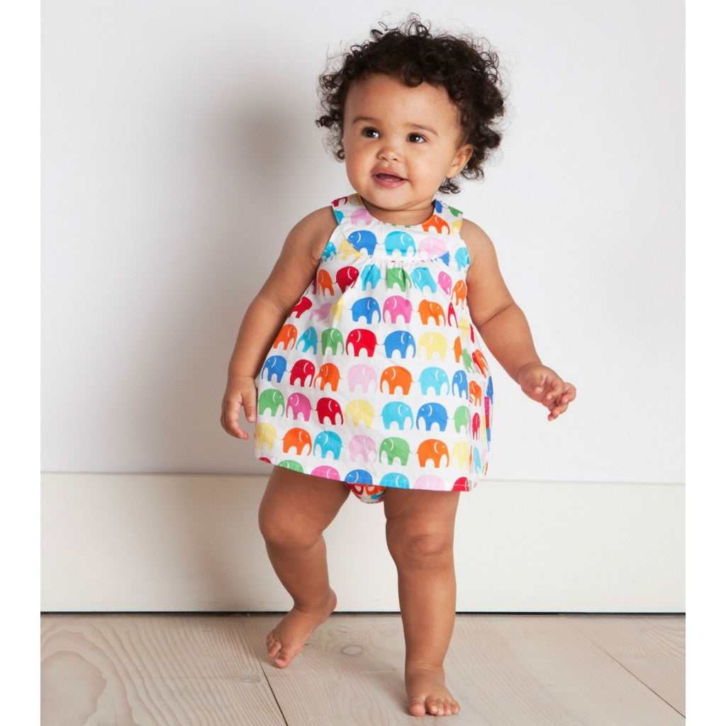 Multi Elly Baby Dress & Pants Set
