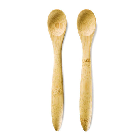Image of Two Bamboo Baby Feeding Spoons