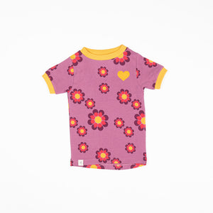 Alba Bella T-shirt - Bordeaux Flower Power