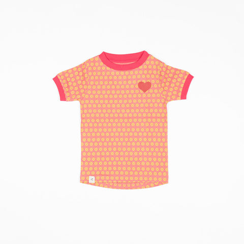 Alba Bella T-shirt - Tea Rose Flower Hearts
