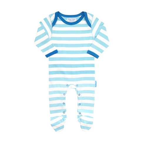 Image of Toby Tiger Cloud Babygrows 2 Pack - Tilly & Jasper