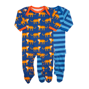Toby Tiger Babygrows 2 Pack - Organic Cotton