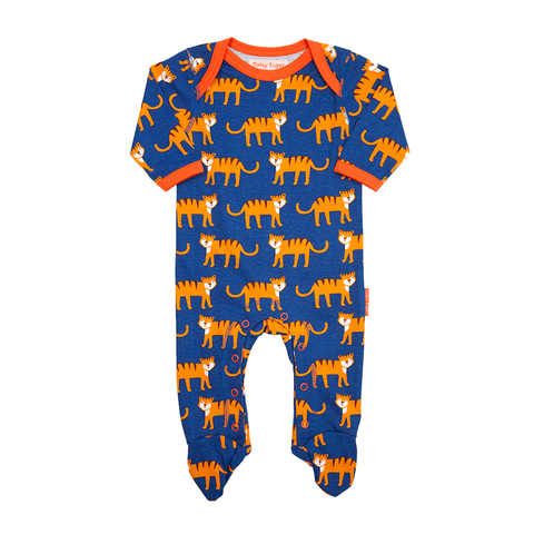Image of Toby Tiger Babygrows 2 Pack - Organic Cotton