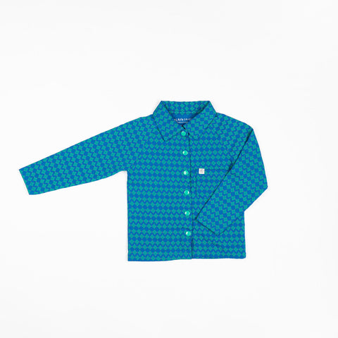 Alba Chris Shirt - Snorkel Blue Flower