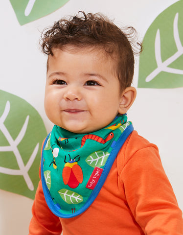 Image of Toby Tiger Bug Print Dribble Bib