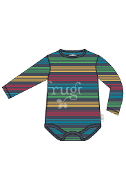 Frugi Favourite Body - Tobermory Rainbow Stripe