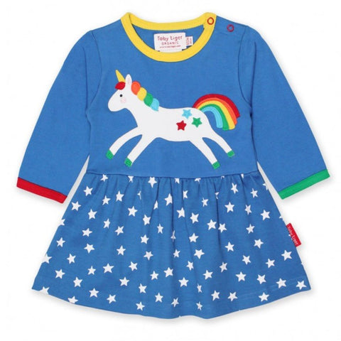 Toby Tiger Unicorn Twirl Dress - Organic Cotton