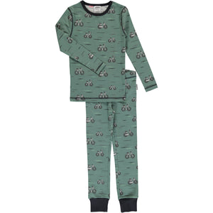Maxomorra Long Sleeve Pyjama Set - Bicycle