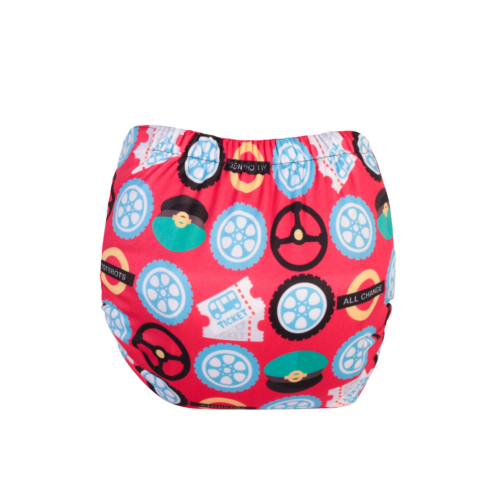 TotsBots Easy Fit Star Nappy - Wheels on the Bus