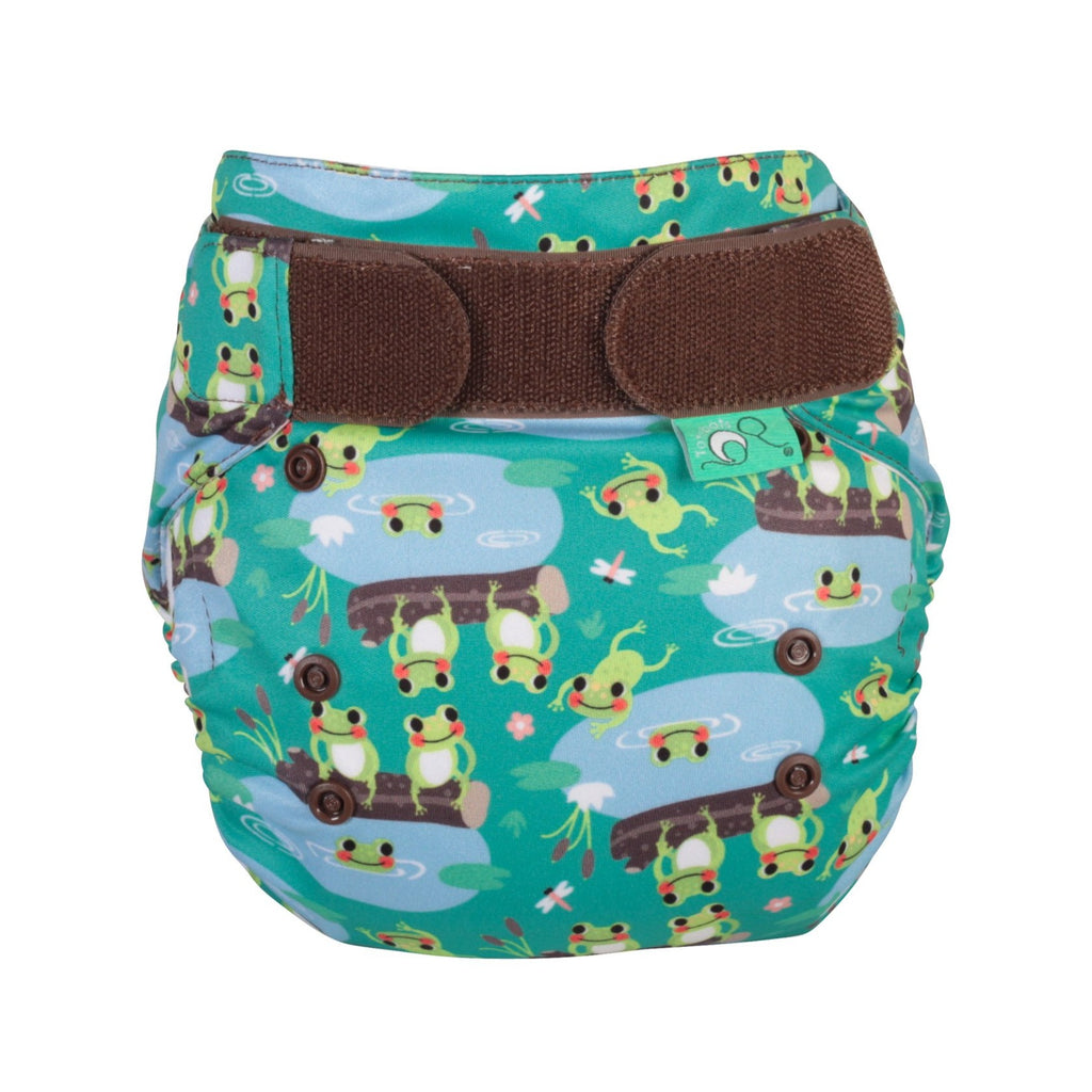 TotsBots Easy Fit Star Nappy - Five Little Speckled Frogs