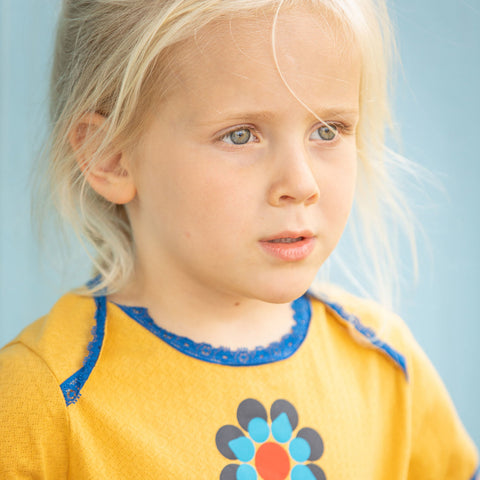 Image of Alba Emmie Flower Dress - Bright Gold