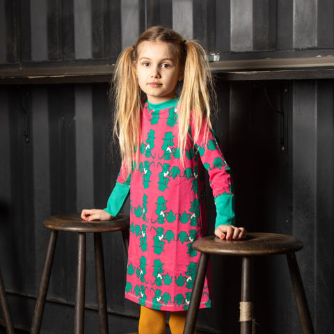 Alba  Everyday School Dress - I Love Pepper Dogs