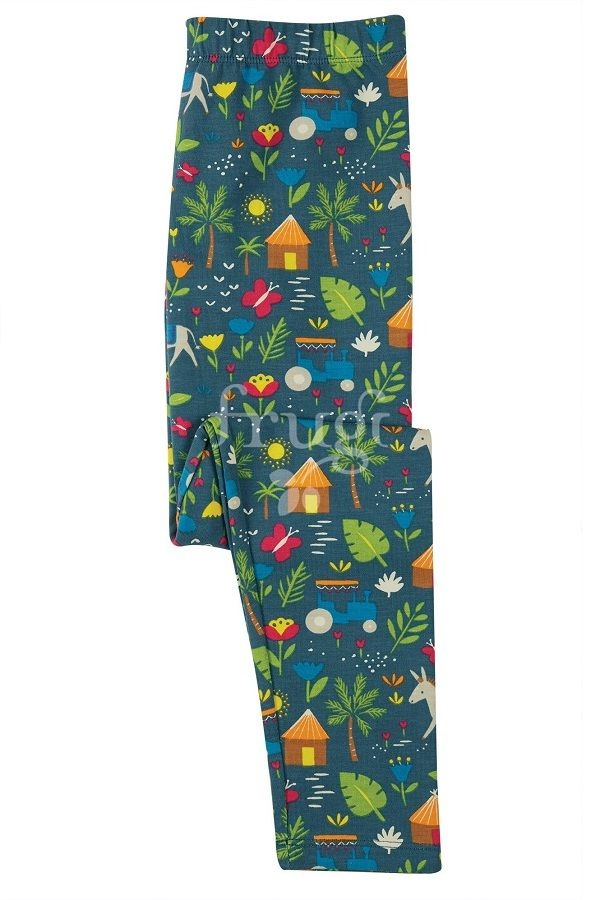 Frugi Libby Printed Leggings - Indigo Farm