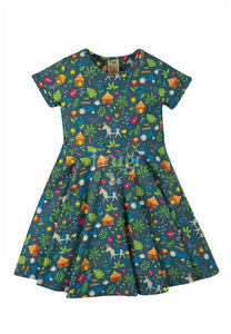 Frugi Spring Skater Dress - Indigo Farm