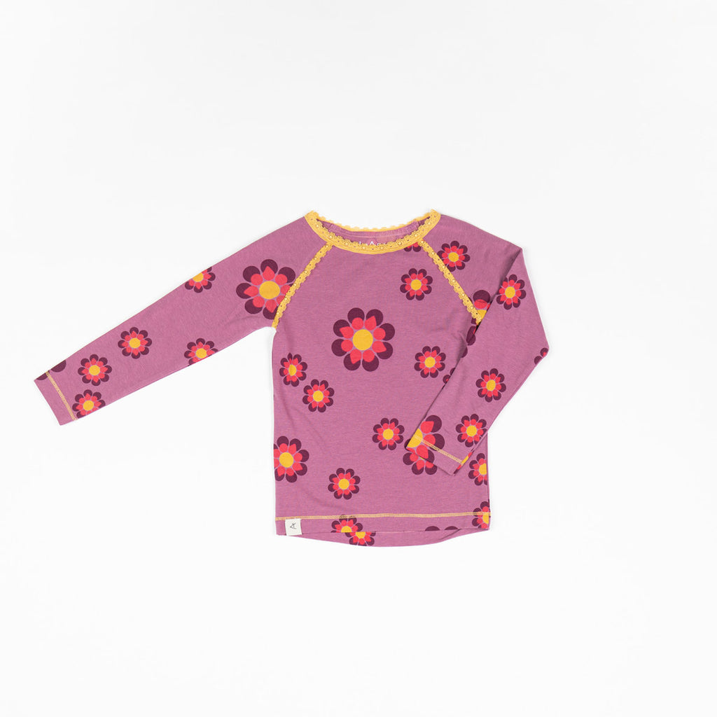 Alba Ghita Blouse - Bordeaux Flower Power
