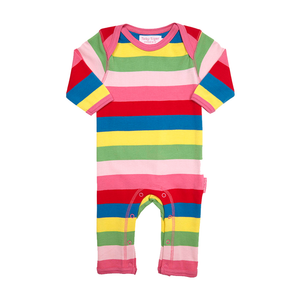 Toby Tiger Organic Cotton - Girly Stripe Sleepsuit