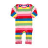 Image of Organic Cotton - Girly Stripe Sleepsuit