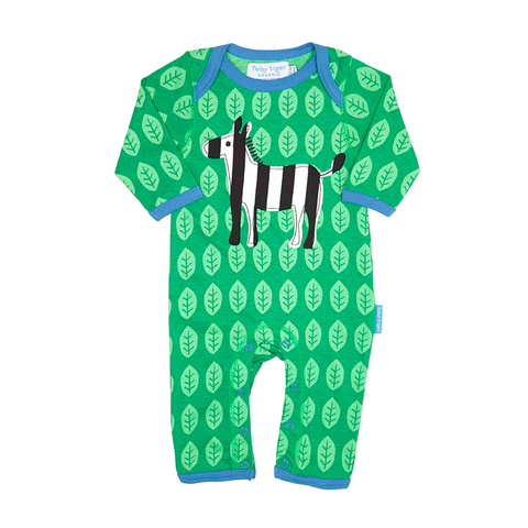 Image of Toby Tiger Zebra Sleepsuit