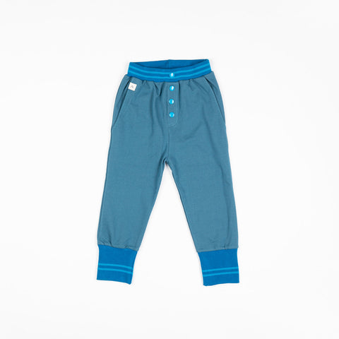 Alba Hai Button Pants - Bluesteel