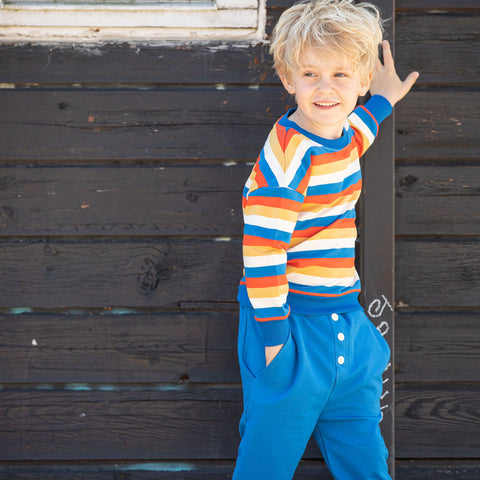 Image of Alba Hai Button Pants - Snorkel Blue