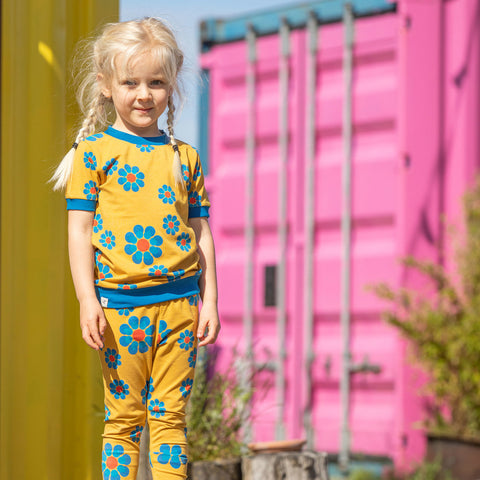 Image of Alba Haniella Leggings - Bright Gold Flower Power