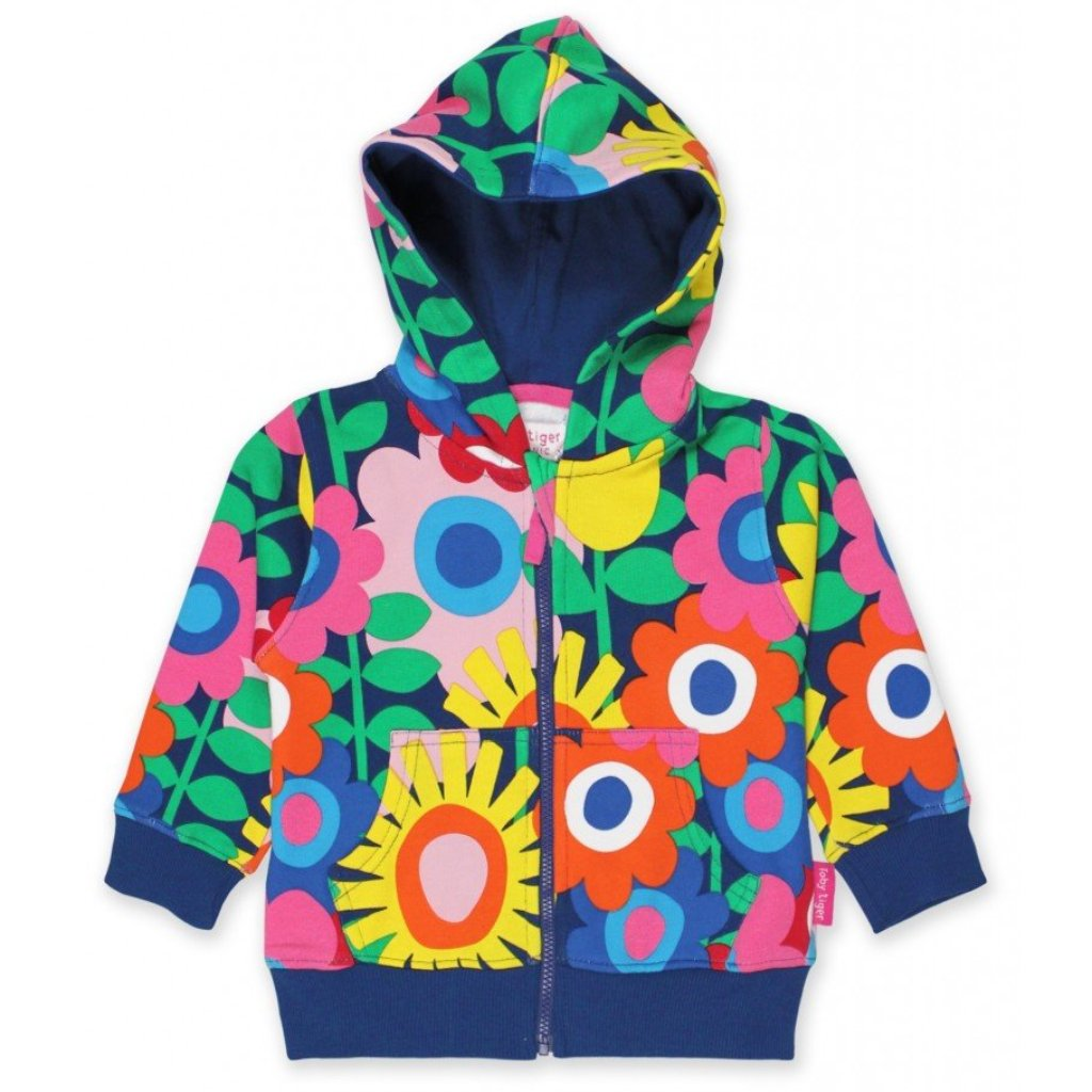 Toby Tiger Flower Power Hoodie - Organic Cotton