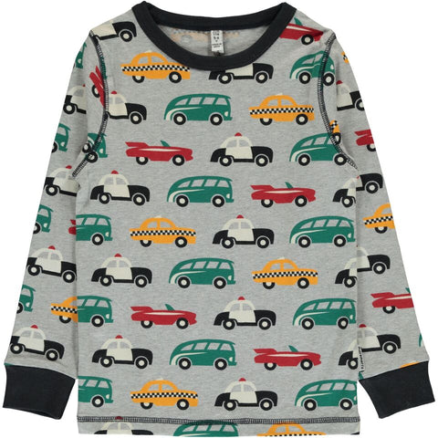 Maxomorra Long Sleeve Top - Traffic