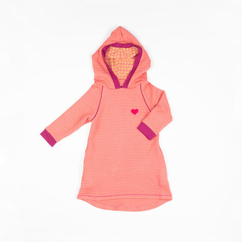 Alba  Linh Hood Dress - Tea Rose