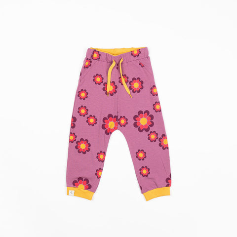 Alba Lucca Baby Pants - Bordeaux Flower Power