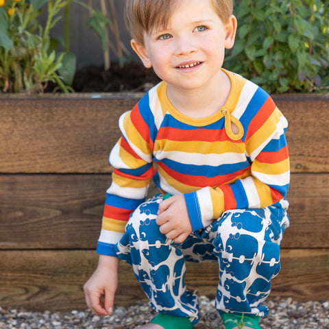 Alba Lucca Baby Pants - Snorkel Blue Wanna Be An Animal