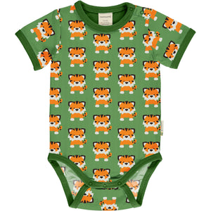 Maxomorra Short Sleeve Body - Tangerine Tiger