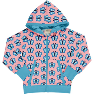 Maxomorra Hooded Cardigan - Bluewing Butterfly
