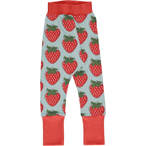 Maxomorra Drop Crotch Pants - Strawberry