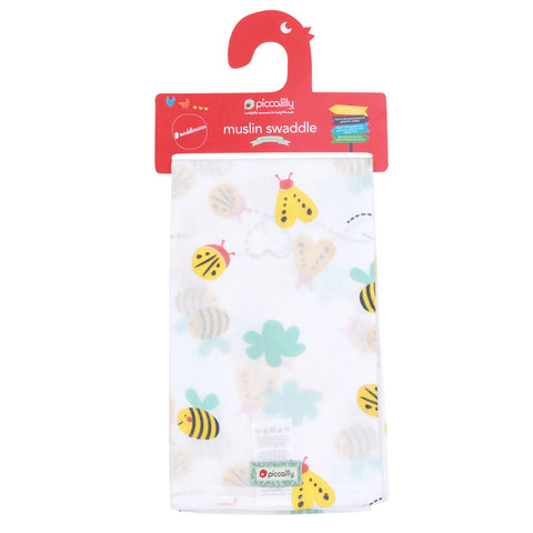 Piccalilly Muslin Swaddle - Bumblebee
