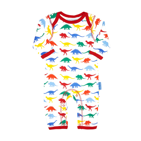 Multi Dino Sleepsuit - Organic Cotton