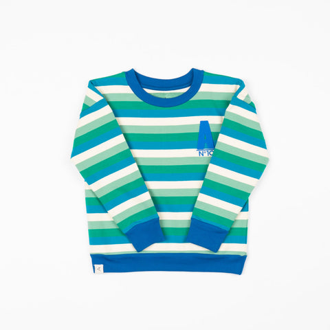 Image of Alba My Favourite Sweat - Creme de Menthe Stripes