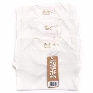 Long Sleeve Baby Body 3 Pack - Undyed, Organic Fairtrade Cotton