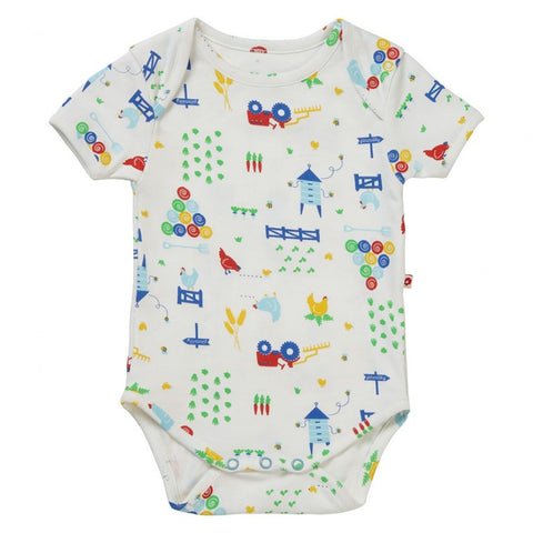 Piccalilly Baby Bodysuit - Farmyard