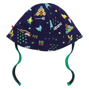 Piccalilly Reversible Sun Hat - Farm - Organic Cotton