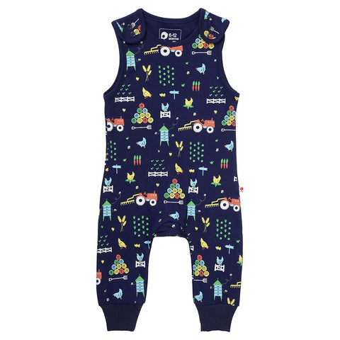 Piccalilly Dungarees - Farm - Organic Cotton