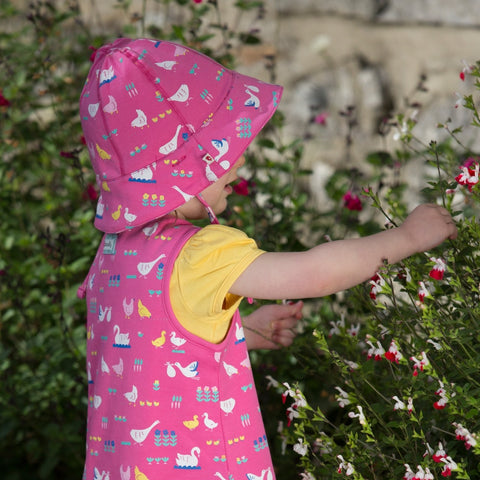 Image of Piccalilly Reversible Dress - Bird Babble - Organic Cotton