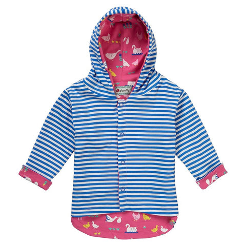 Piccalilly Reversible Hooded Jacket - Bird Babble