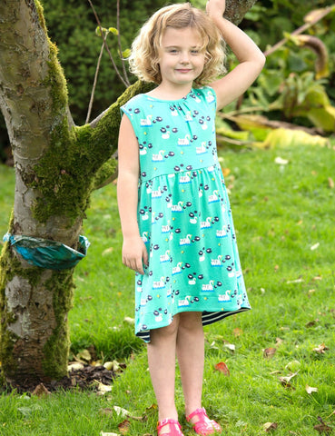 Image of Piccalilly Swan Dress - Organic Cotton