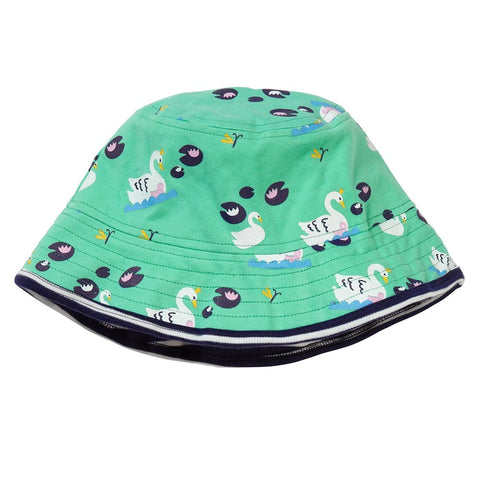 Piccalilly Reversible Hat - Swan - Organic Cotton