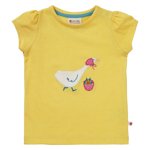 Piccalilly Yellow Mrs Goose T-shirt- Organic Cotton